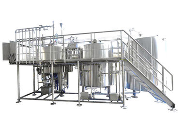 Industrial Brewing Equipment 25BBL Large Scale Brewing With Steam / Gas Heating